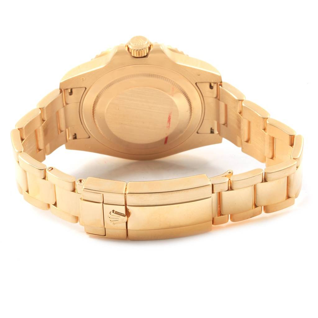 Rolex GMT Master II 18K Yellow Gold Green Dial Mens Watch 116718 SwissWatchExpo
