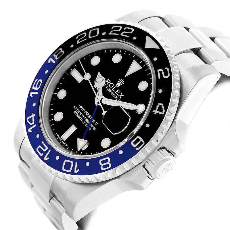 Rolex GMT Master II Batman Blue Black Bezel Mens Watch 116710 SwissWatchExpo