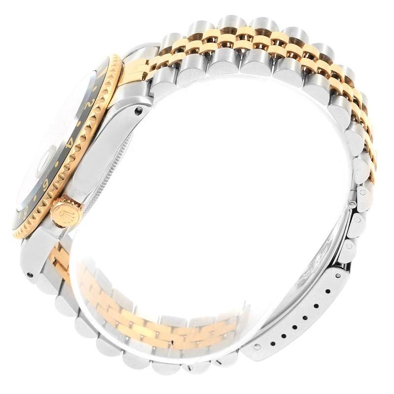 Rolex GMT Master II Yellow Gold Steel Jubilee Bracelet Mens Watch 16713 SwissWatchExpo
