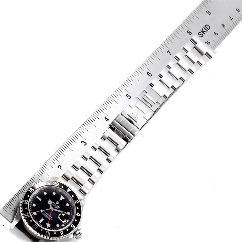 Rolex GMT Master II Black Bezel Mens 40mm Watch 16710 Box Papers SwissWatchExpo