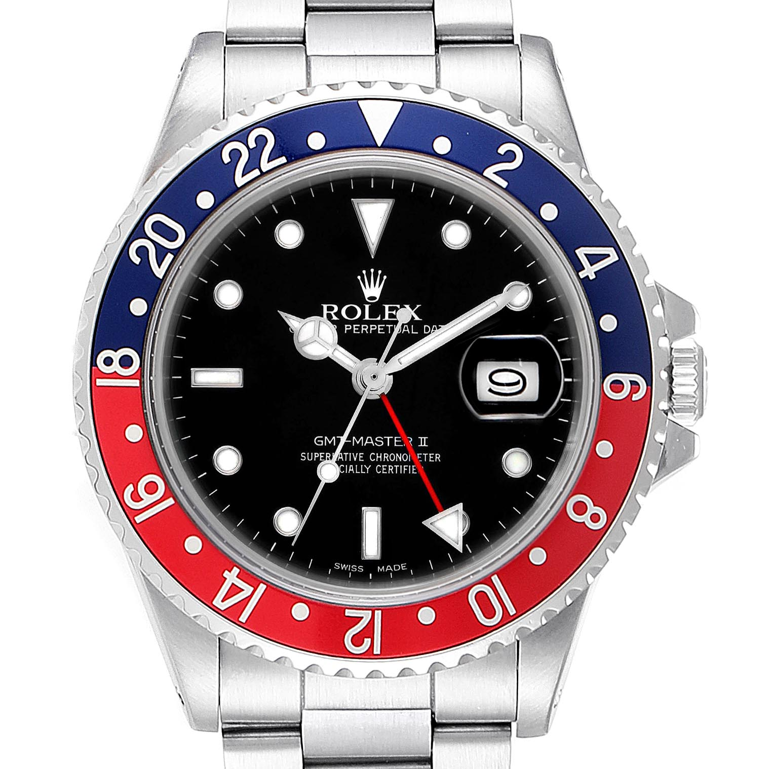 Rolex GMT Master Fat Lady Vintage Pepsi Blue Red Bezel Watch 16760