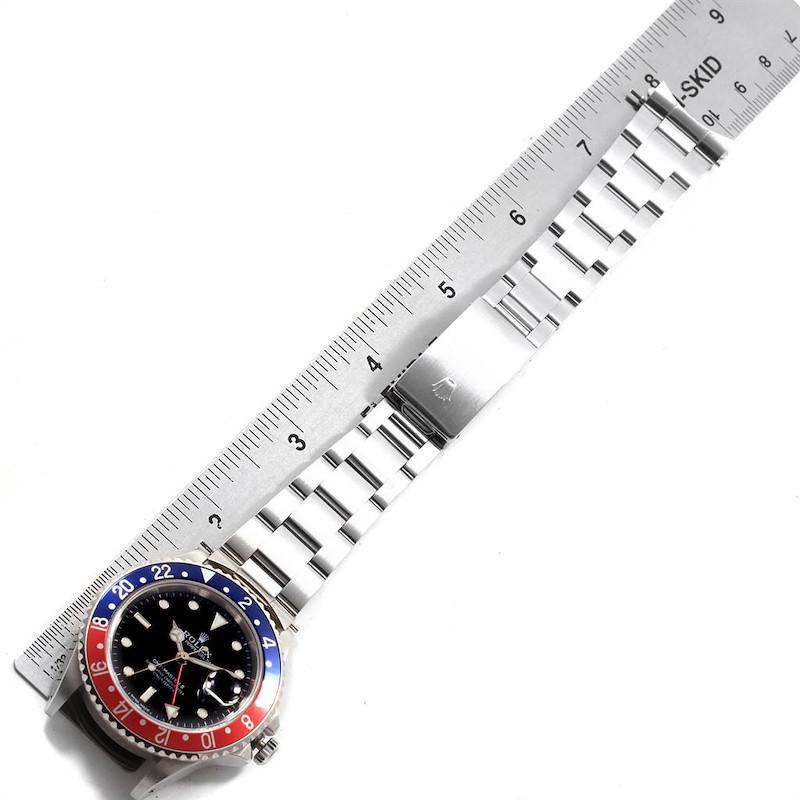 Rolex GMT Master Fat Lady Vintage Pepsi Blue Red Bezel Watch 16760 SwissWatchExpo