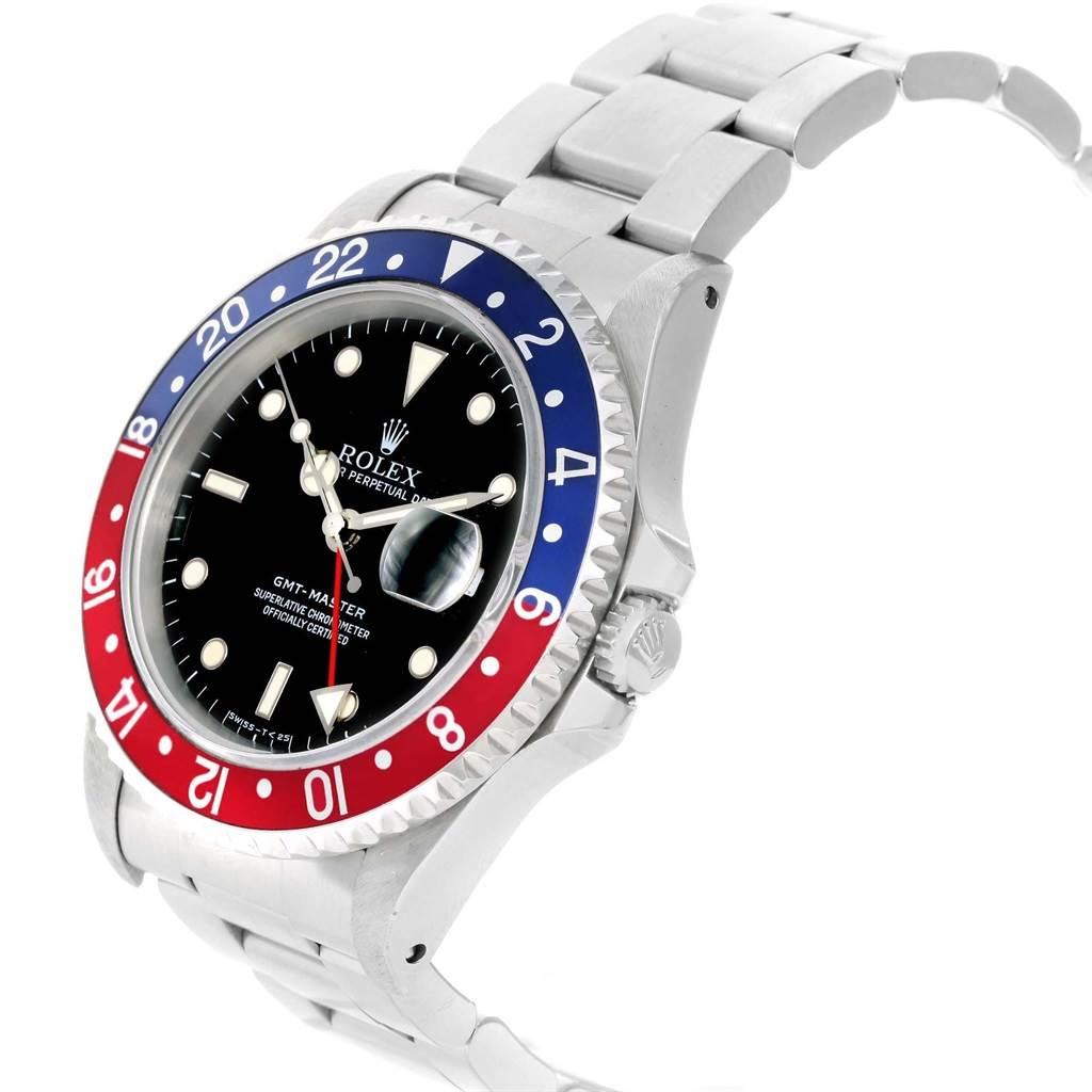 Rolex GMT Master 40mm Blue Red Pepsi Bezel Mens Watch 16700 Box SwissWatchExpo