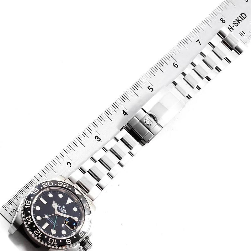 Rolex GMT Master II Green Hand Steel Mens Watch 116710 Box Papers SwissWatchExpo