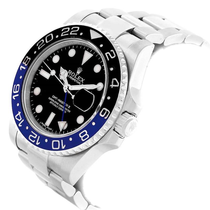 Rolex GMT Master II Batman Blue Black Bezel Steel Watch 116710 SwissWatchExpo