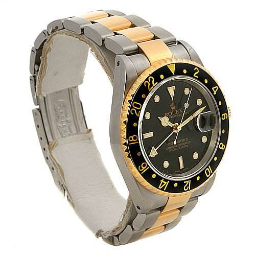 Rolex Gmt Master Ii Men's 18k & Ss Watch 16713 SwissWatchExpo