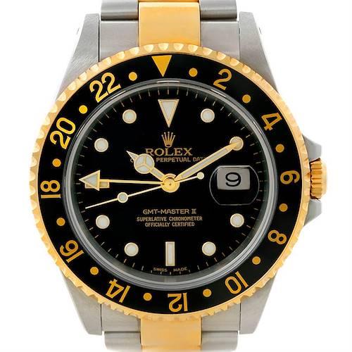 Photo of Rolex Gmt Master Ii Men's 18k & Ss Watch 16713