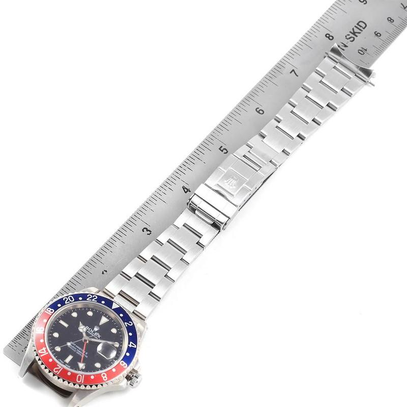 Rolex GMT Master II 40mm Blue Red Pepsi Bezel Mens Watch 16710 SwissWatchExpo