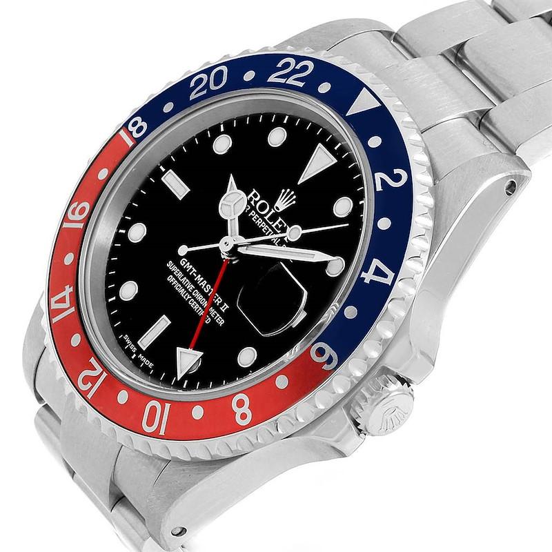 Rolex GMT Master II Blue Red Pepsi Bezel Insert Watch 16710 Box Papers SwissWatchExpo