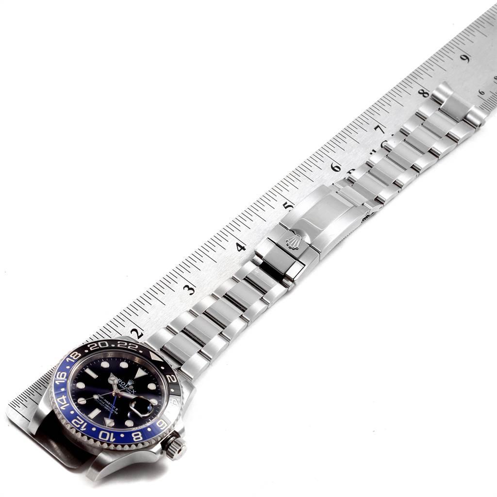 21731 Rolex GMT Master II Batman Blue Black Ceramic Bezel Steel Watch 116710 SwissWatchExpo