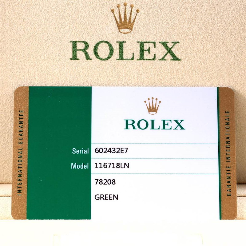 Rolex GMT Master II Yellow Gold Green Dial Mens Watch 116718 Unworn PARTIAL PAYMENT ONLY SwissWatchExpo