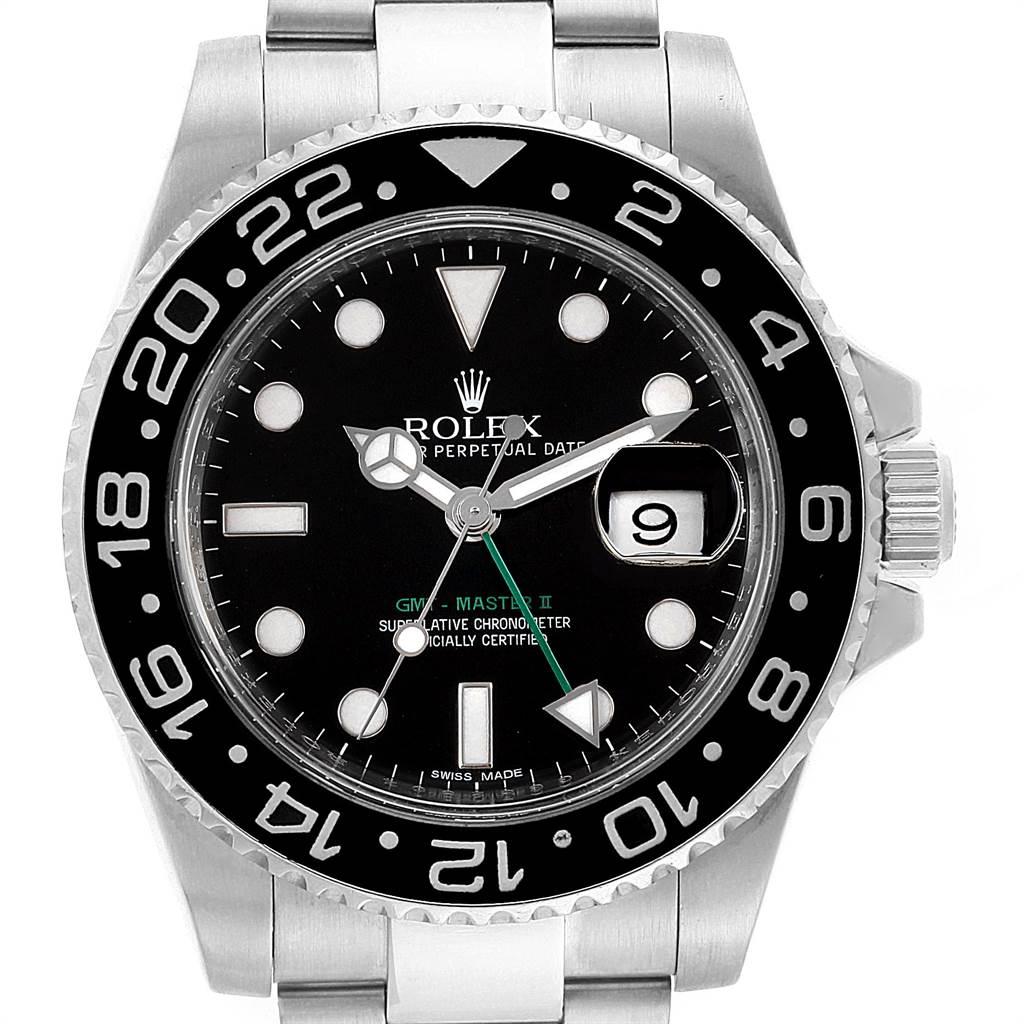 Rolex Gmt Master Ii Steel Ceramic Bezel Mens Watch 116710 Box Card
