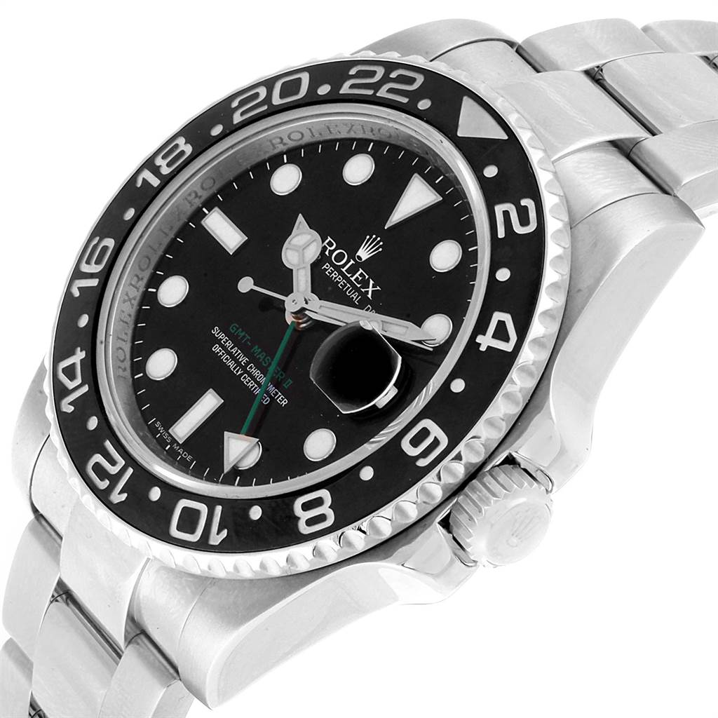 Rolex GMT Master II Green Hand Automatic Steel Mens Watch 116710 SwissWatchExpo