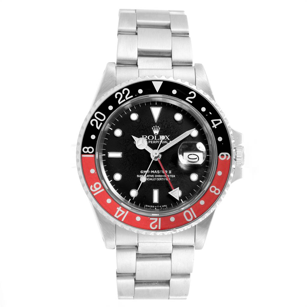 Rolex GMT Master Fat Lady Vintage Coke Black Red Watch 16760 Box Papers SwissWatchExpo