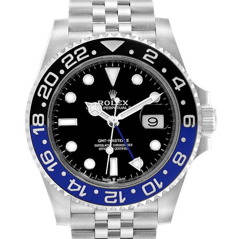 Rolex GMT Master II Black Blue Batman Jubilee Steel Watch 126710 Unworn SwissWatchExpo