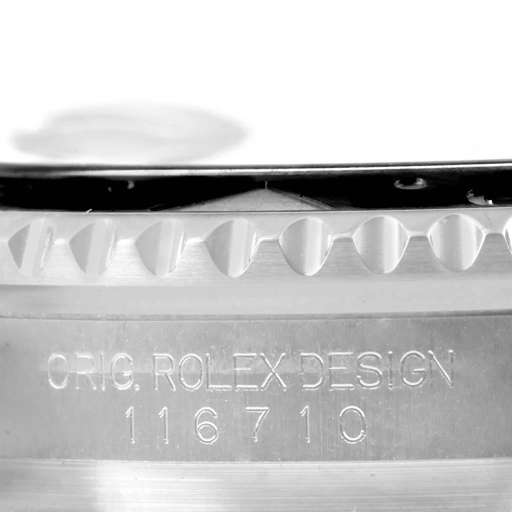 23167 Rolex GMT Master II Batman Blue Black Bezel Steel Watch 116710 Box Card SwissWatchExpo