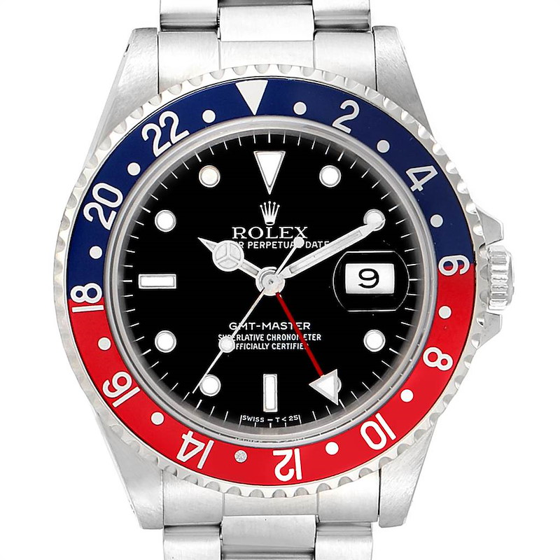 Rolex GMT Master 40mm Blue Red Pepsi Bezel Mens Watch 16700 Box SwissWatchExpo
