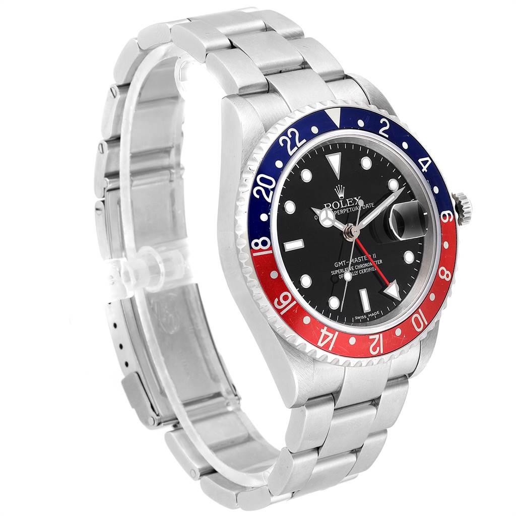 Rolex GMT Master II Error Dial Pepsi Bezel Mens Watch 16710 Box Papers SwissWatchExpo