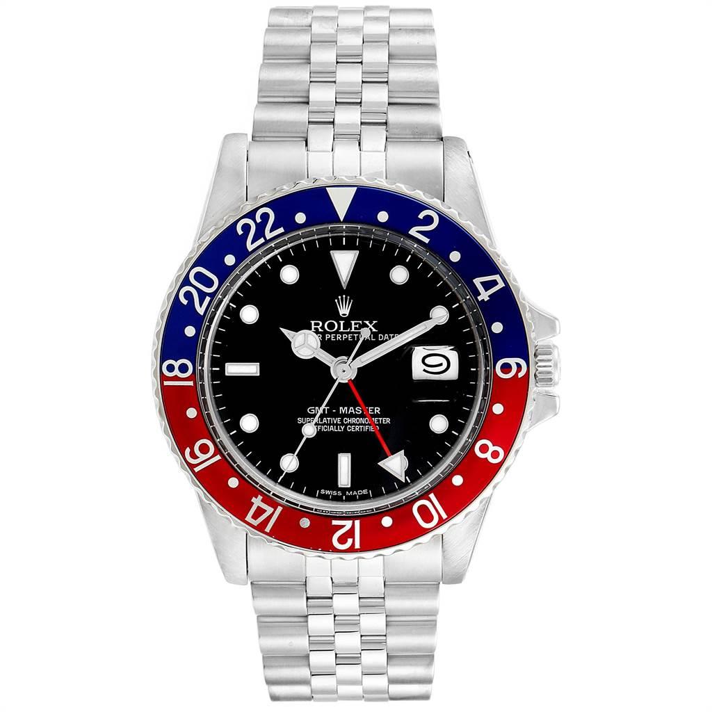 Rolex GMT Master Pepsi Bezel Vintage Steel Mens Watch 16750 Box Papers SwissWatchExpo