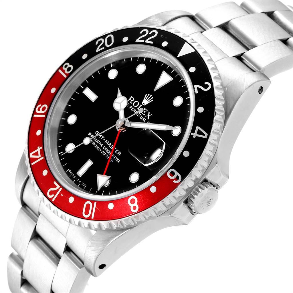 Rolex GMT Master Black Red Coke Bezel Mens Watch 16700 SwissWatchExpo