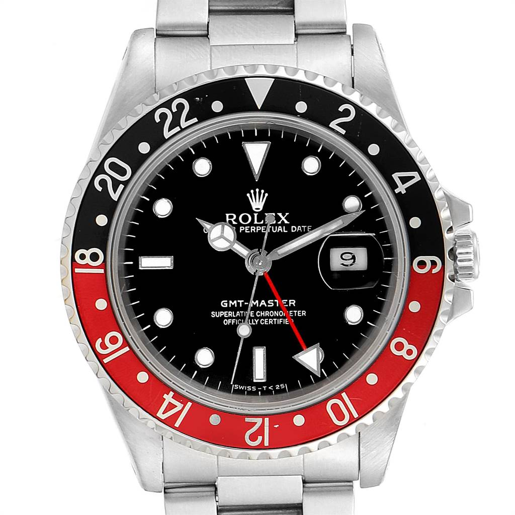 Rolex GMT Master Black Red Coke Bezel Mens Watch 16700