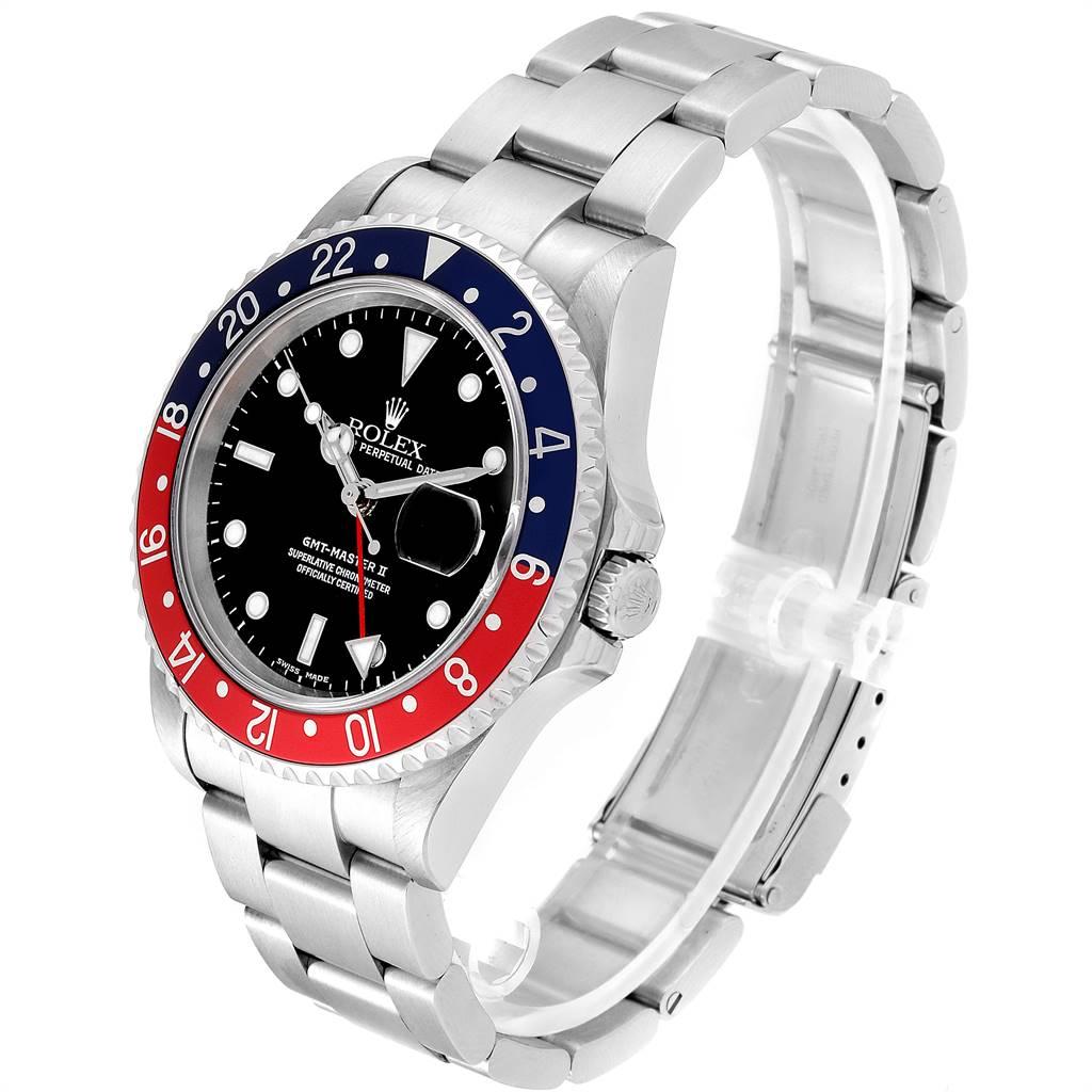24622 Rolex GMT Master II Blue Red Pepsi Bezel Mens Watch 16710 Box Papers SwissWatchExpo