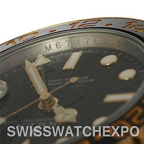 2593 Rolex GMT Master II Men's 18k & SS Watch 116713 yr 2008 SwissWatchExpo