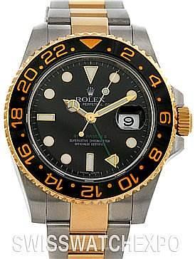 Photo of Rolex GMT Master II Men's 18k & SS Watch 116713 yr 2008