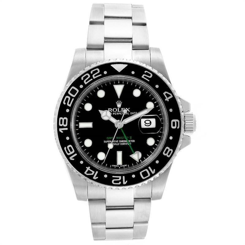 Rolex GMT Master II 40mm Green Hand Mens Watch 116710 Box Card SwissWatchExpo