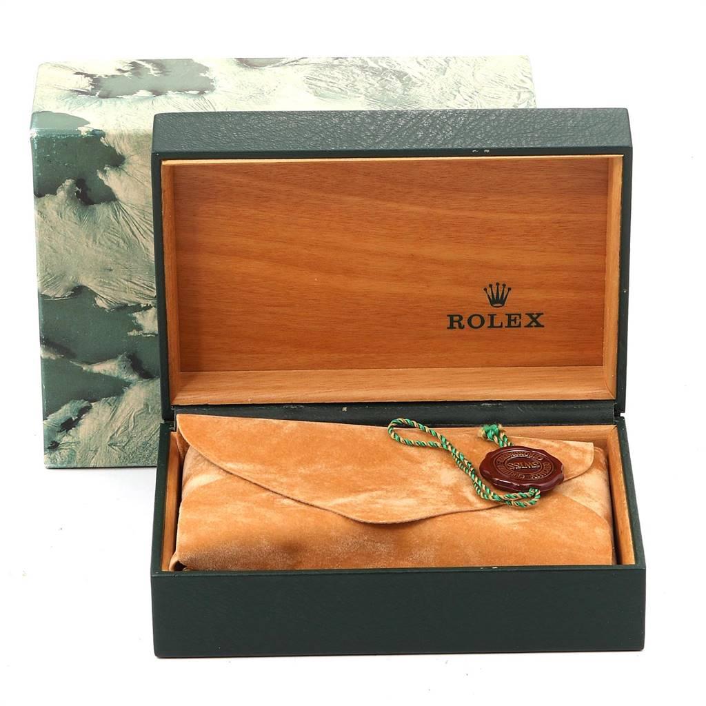 24658 Rolex GMT Master II Mens 18k Yellow Gold Steel Watch Serti Dial 16713 SwissWatchExpo