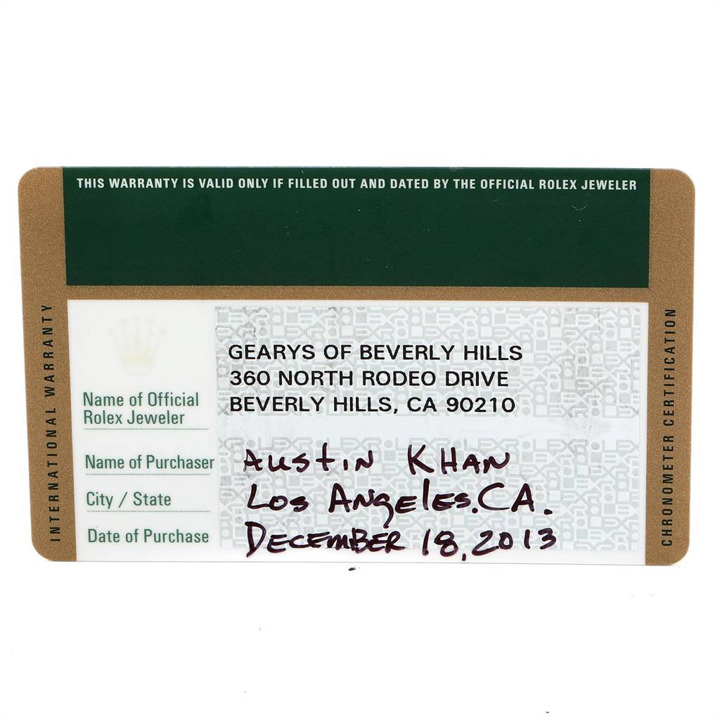 24505 Rolex GMT Master II Green Hand Steel Mens Watch 116710 Box Card SwissWatchExpo