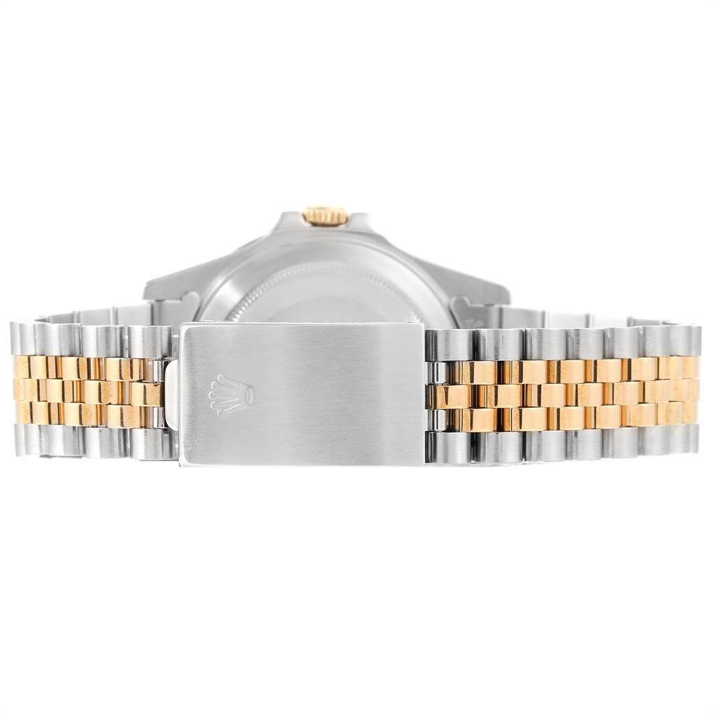 Rolex GMT Master II Rootbeer Ghost Dial Yellow Gold Steel Mens Watch 16713 SwissWatchExpo