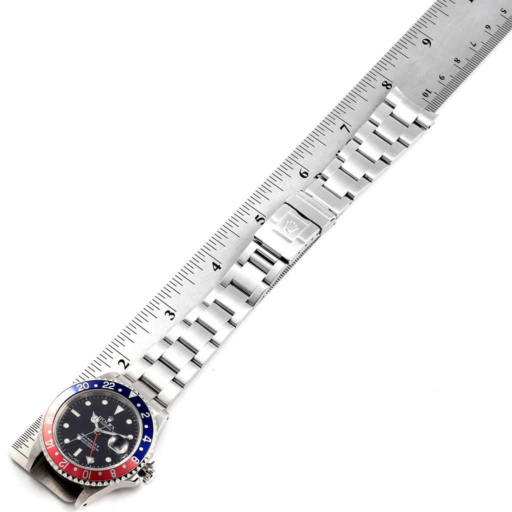 24776 Rolex GMT Master II Blue Red Pepsi Bezel Mens Watch 16710 Box Papers SwissWatchExpo