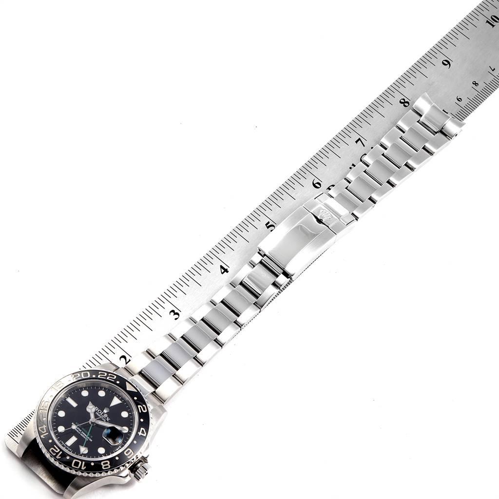 24495 Rolex GMT Master II Black Dial Steel Mens Watch 116710 Box Card SwissWatchExpo
