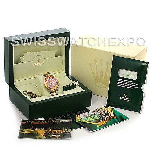 2648 Rolex  GMT Master II Men's 18K SS Watch 16713 yr 2005  SwissWatchExpo