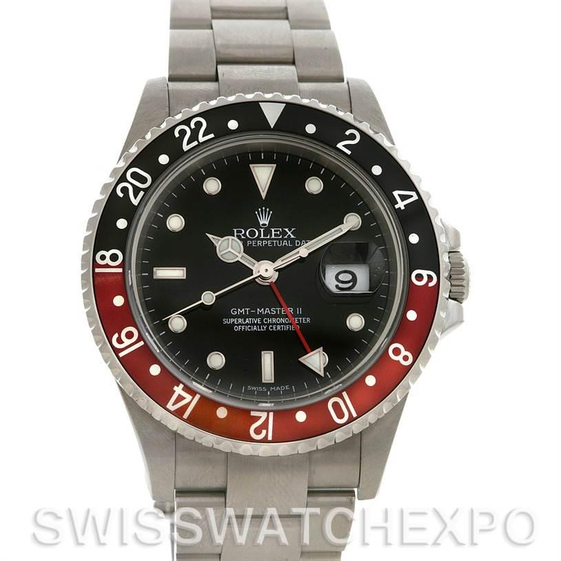 "2662 Rolex GMT MASTER II MENS SS 16710 ""Z"" SERIAL CIRCA 2008 - ERROR DIAL SwissWatchExpo"