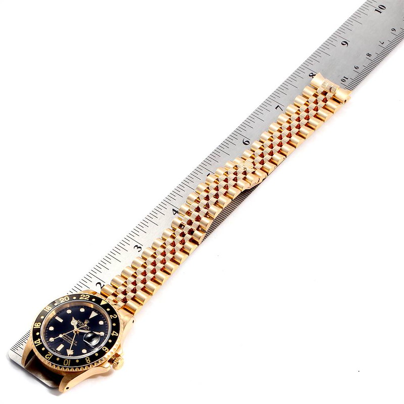 Rolex GMT Master 18K Yellow Gold Mens Watch 16718 Box Papers SwissWatchExpo