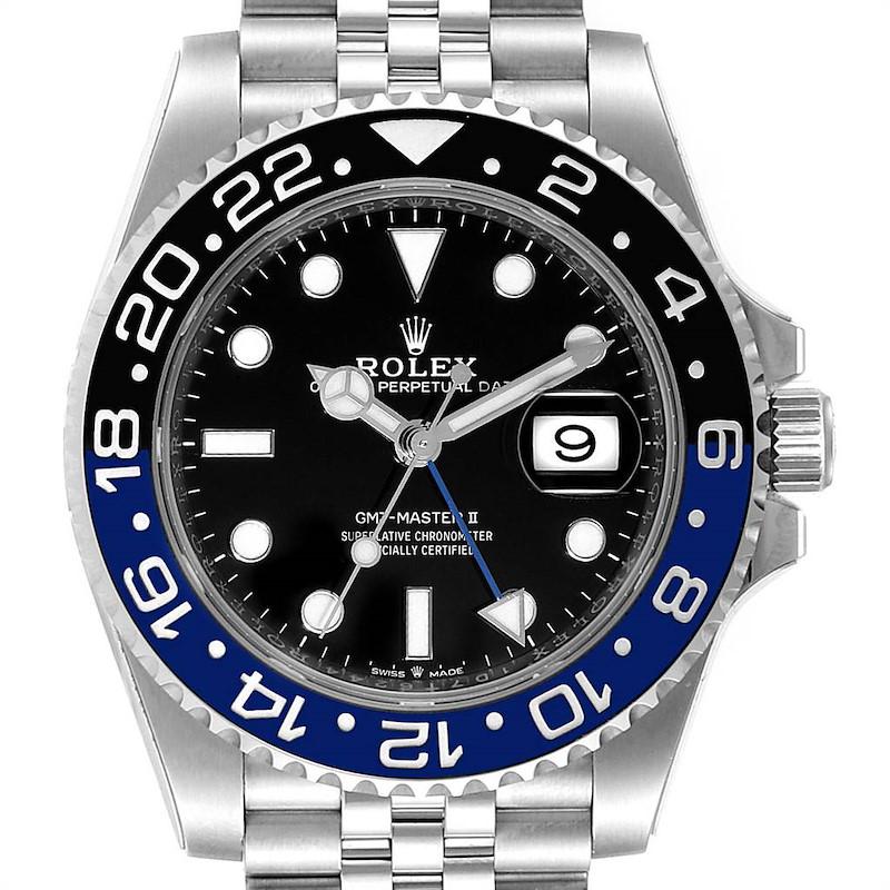 Rolex GMT Master II Black Blue Batman Jubilee Steel Watch 126710 Unworn SwissWatchExpo
