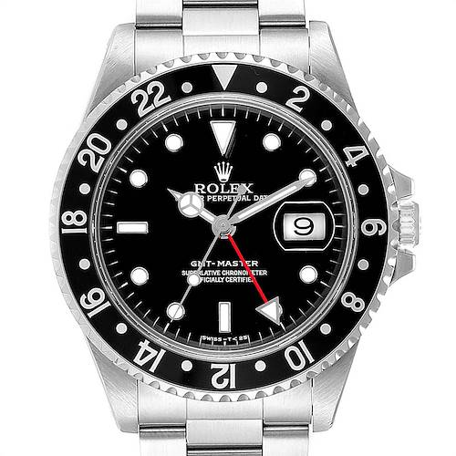 Photo of Rolex GMT Master Black Bezel Automatic Steel Mens Watch 16700
