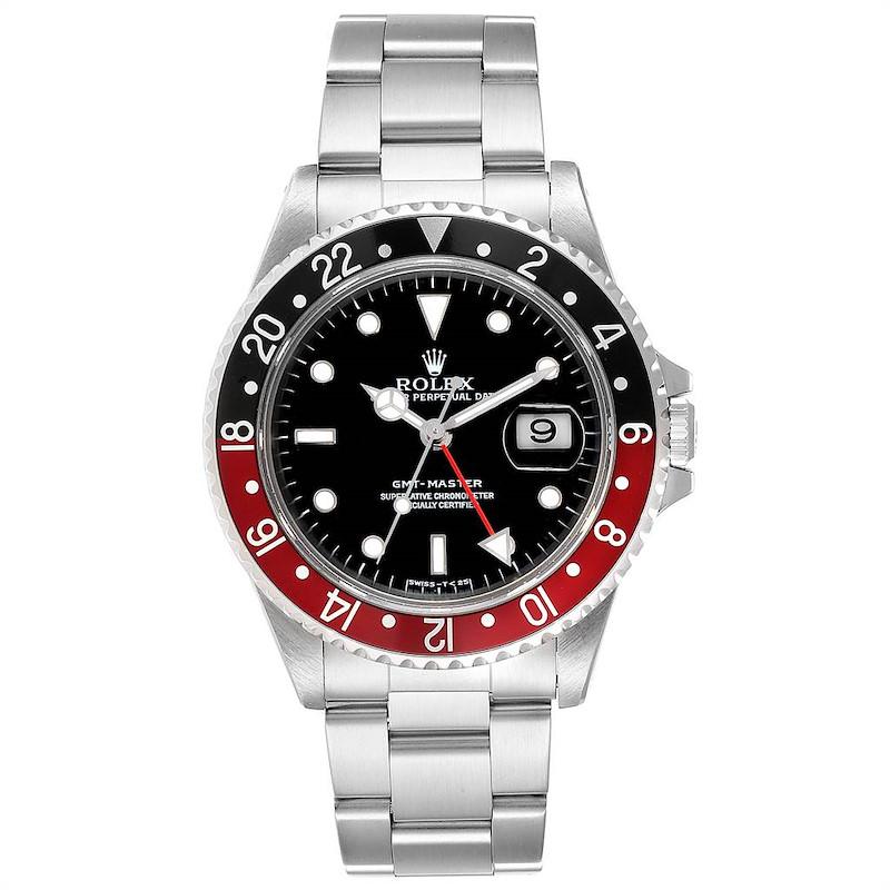 Rolex GMT Master Black Red Coke Bezel Mens Watch 16700 SwissWatchExpo