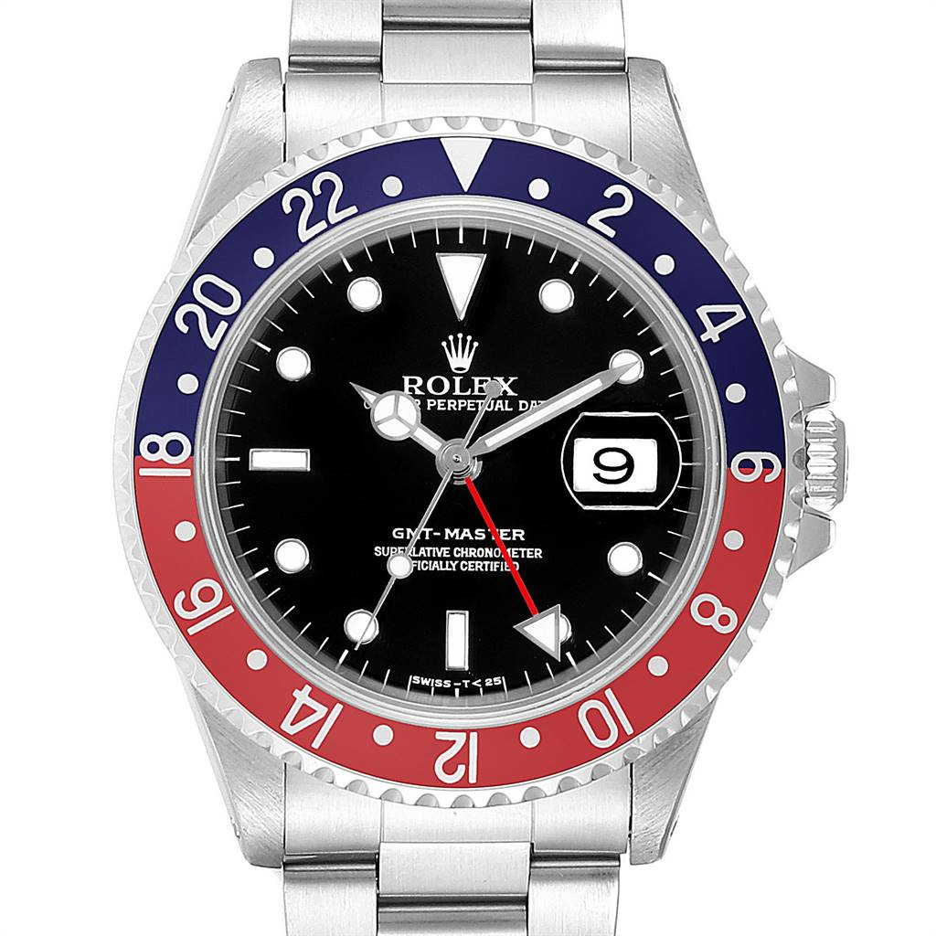 Rolex GMT Master Pepsi Red and Blue Bezel Steel Mens Watch 16700