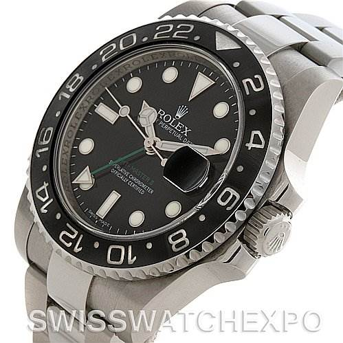 2736 Rolex  GMT Master II Scrambled Number Watch 116710 y 2010 SwissWatchExpo