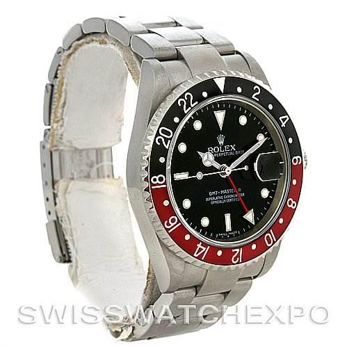 Rolex GMT MASTER II MENS STEEL 16710 YEAR 2007 ERROR DIAL SwissWatchExpo