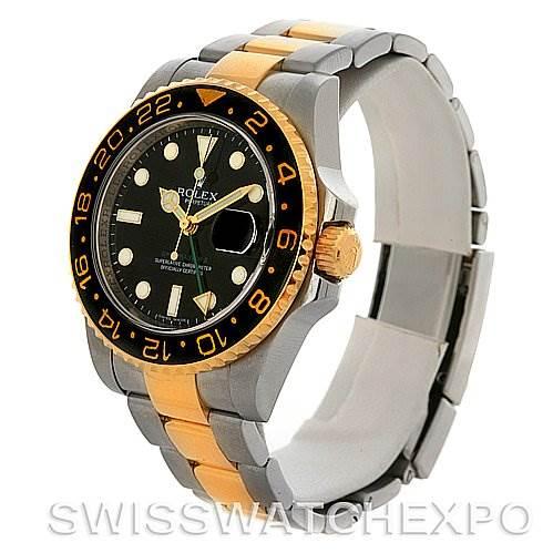 Rolex GMT Master II Men's 18k Gold Steel Watch 116713 SwissWatchExpo