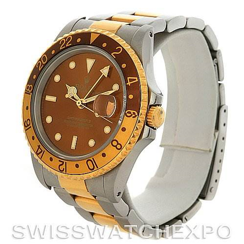 Rolex Men's 18k and Steel Rolex GMT Master II Watch 16713 SwissWatchExpo