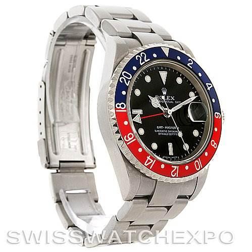 2962 Rolex GMT Master II Mens Steel Watch 16710 Error Dial SwissWatchExpo