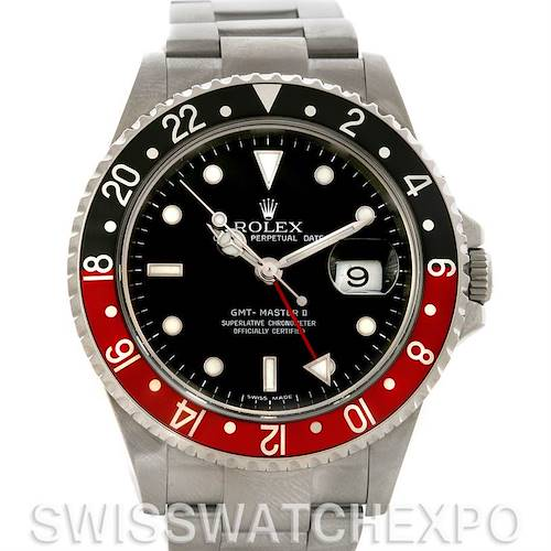 Photo of Rolex GMT Master II Coke Mens Watch 16710 Year 2007