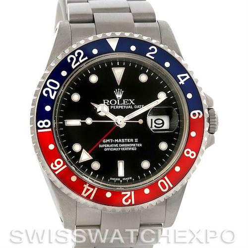 Photo of Rolex GMT Master II Pepsi Steel Mens Watch 16710