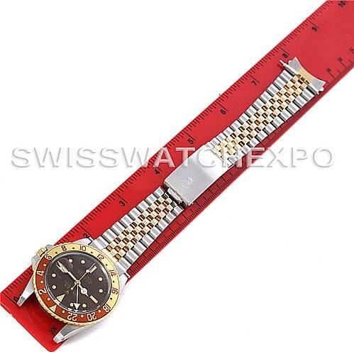 4033 Men's 18k Gold and Steel Rolex GMT Master Watch 16753 SwissWatchExpo