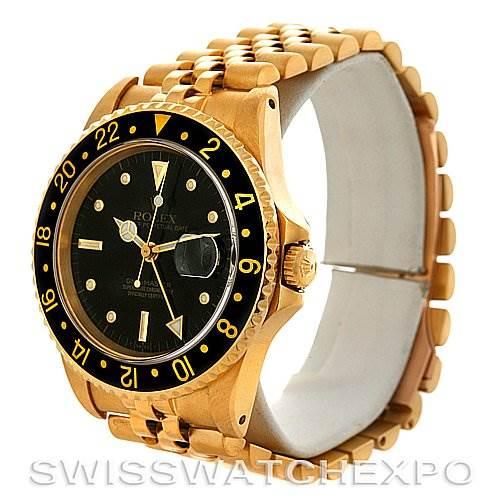 Rolex GMT Master Transitional Men's 18k Yellow Gold Watch 16758 SwissWatchExpo